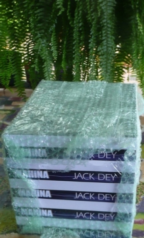 The first copies of Mahina by Jack Dey are unpacked